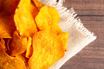 Potato Chips Made with Sweet Potatoes an Alternative to Classic Chips