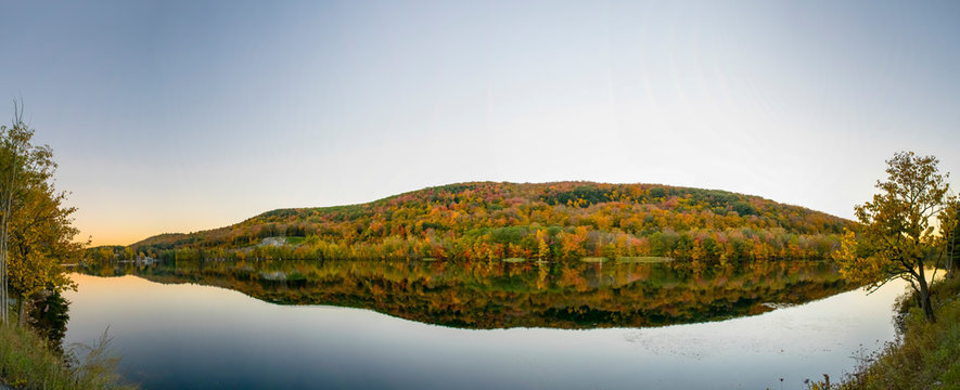 Greenwater Pond in Fall