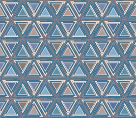 Mosaic seamless pattern, background. Consists of triangle geometric shapes. Useful as design element for texture and artistic compositions.