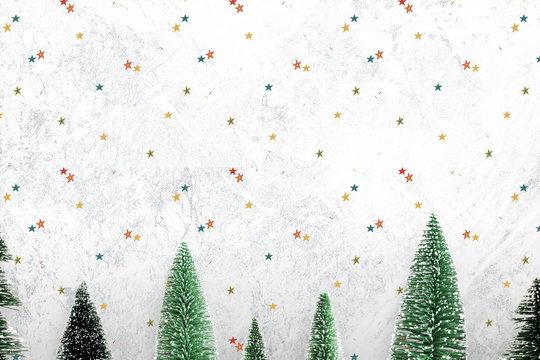 Festive Christmas decorated background mockup