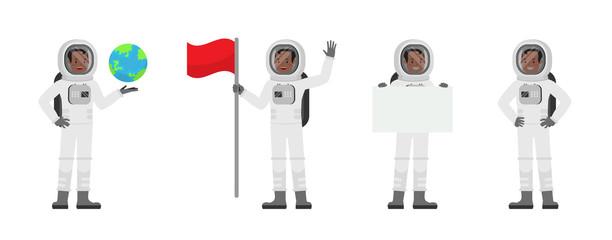 Astronaut vector character design no4