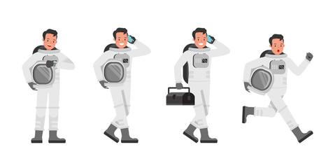 Astronaut vector character design no6