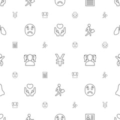 human icons pattern seamless white background