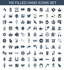 100 hand icons