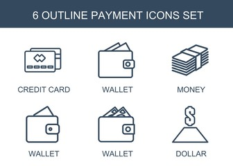 6 payment icons