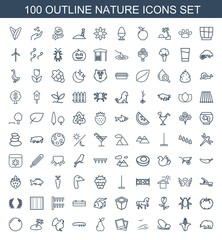 100 nature icons