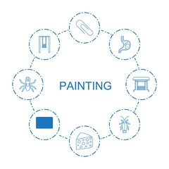 8 painting icons
