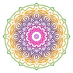 Mandala. For Fashion Design. Vector Illustration. Rainbow color