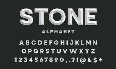 chisel style alphabet design