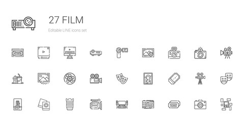 film icons set