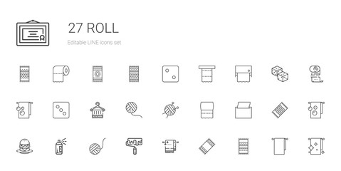 roll icons set