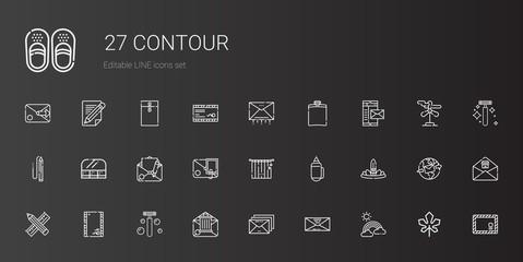 contour icons set