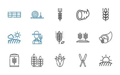 crop icons set