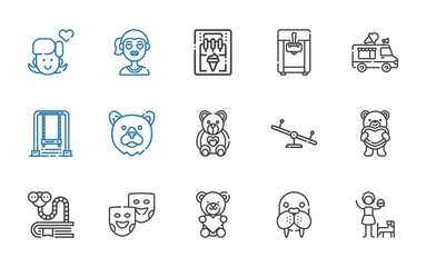 cheerful icons set