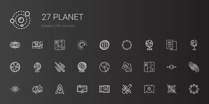 planet icons set
