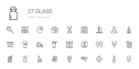 glass icons set