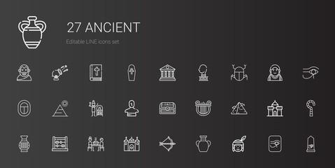 ancient icons set