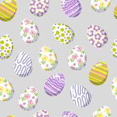 Beautiful seamless background with Easter eggs.