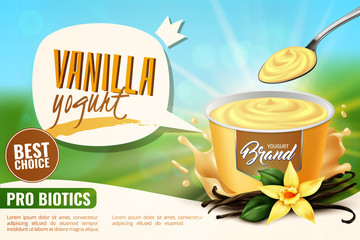 Vanilla Yogurt  Ad Realistic