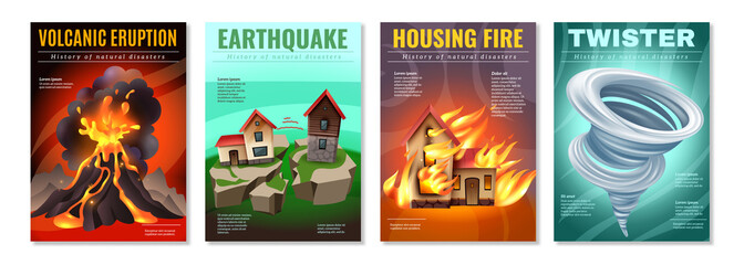 Natural Disasters Posters Set