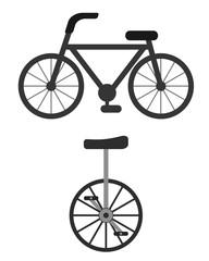 自転車と一輪車