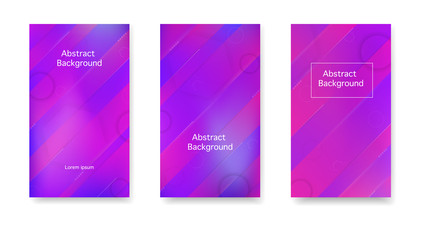 Modern cover in a minimalist style. Gradient, neon, lines, forms. Vector. Color geometric gradient, futuristic background.