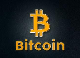 Bitcoin - kryptowaluta - ilustracja - fototapety na wymiar