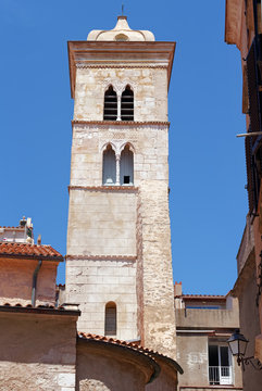 Bell tower of the St. Mary Major church in Bonifacio citadel