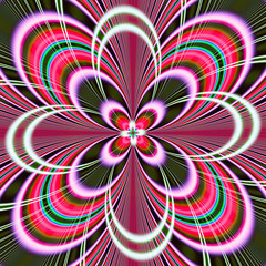 Poster Psychedelic The colors in the series, Fancy paint. Background consists of fractal color texture and is suitable for use in projects on imagination, creativity and design.