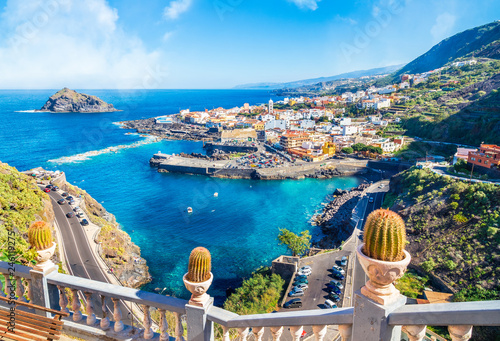 Wall mural Landscape with Garachico town of Tenerife, Canary Islands, Spain