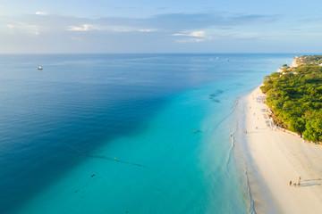Fotobehang Zanzibar aerial view to beautiful coast on Zanzibar island