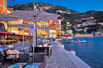 Villefranche sur Mer idyllic French riviera town evening view Wall mural