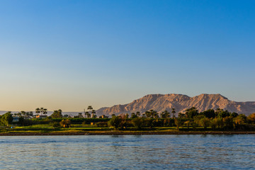 View of the Nile river in Luxor, Egypt