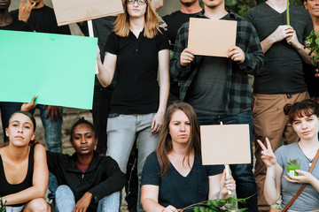 Environmentalists protesting for the environment
