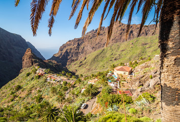 Wall Mural - Masca village, the most visited tourist attraction of Tenerife, Spain