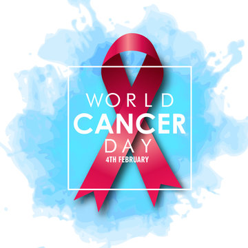 World cancer day. February 4. World cancer day design with abstract and minimal color cobination and typography.