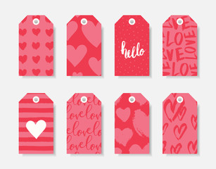 Romantic Valentine's Day Gift Tag Templates