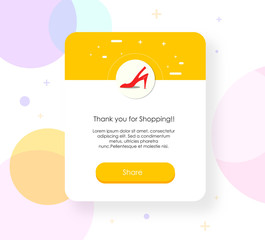 minimal vector illustration design ui with of shopping app notification.