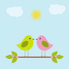 Vector greeting card on the theme of nature.
