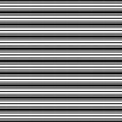 Horizontal stripes. Parallel straight monochrome pattern. Seamless vector illustration