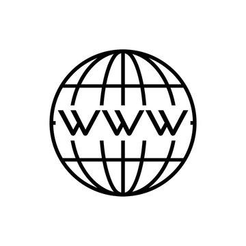 Go to web sign, Internet icon or logo