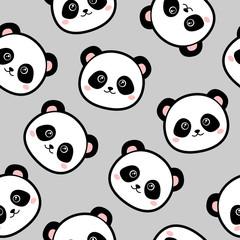 Cute panda seamless pattern