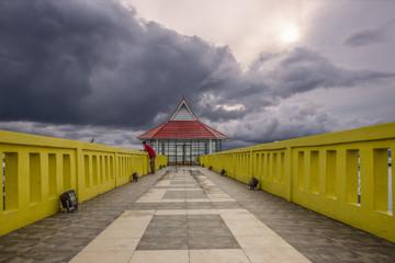 architecture photography under cloud