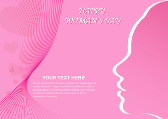 Cover or greeting card for happy women's day