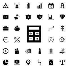 calculator icon. banking icons universal set for web and mobile