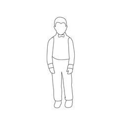 vector, isolated, child sketch, boy