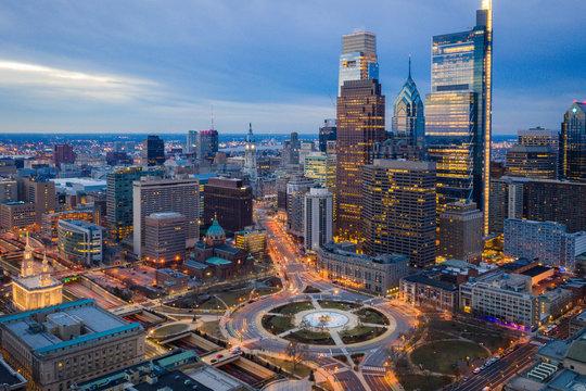 Aerial of Logan Circle Philadelphia