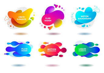 colorful fluid abstract geometric shapes for backdrops