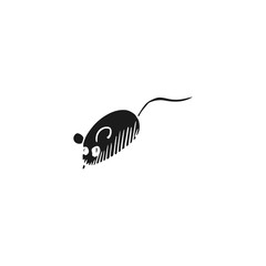 mouse toy vector doodle sketch isolated on white background
