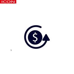 Money in hand. Vector icon.
